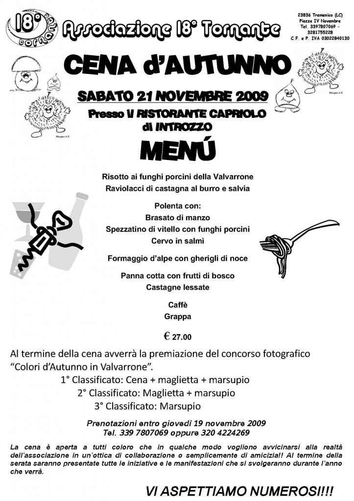 Cena fine anno 09